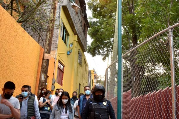 """Inicio - Boletín Alcaldía La Magdalena Contreras atiende solicitudes ciudadanas en Colonia Las Cruces con """"Muro de contención José Vasconcelos"""""""